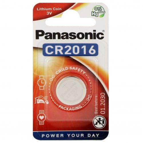 Pile lithium CR2016 3V PANASONIC Power Blister d'1 pile