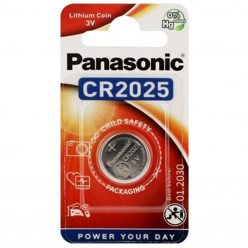 Pile lithium CR2025 3V PANASONIC Power Blister d'1 pile