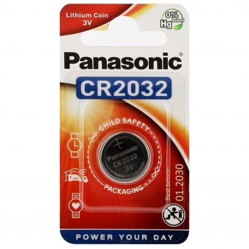 Pile lithium CR2032 3V PANASONIC Power Blister d'1 pile