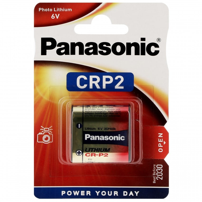 Pile lithium CR-P2P 6V PANASONIC Photo Power Blister d'1 pile