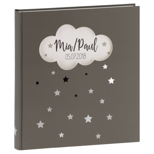 WALTHER DESIGN - Album photo naissance MAGICAL - 50 pages blanches - 184 photos - Couverture Taupe 30,4x27,8cm