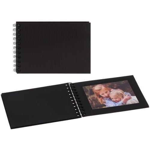 PANODIA - Mini album traditionnel MODELA - 50 pages noires - 50 photos - Couverture Noire 21,5x14,5cm