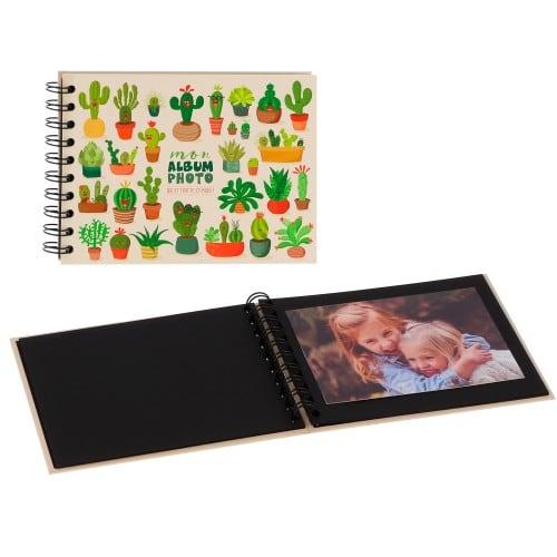 """PANODIA - Mini album traditionnel ARTISTES - Illustration Lali - 30 pages noires - 30 photos - Couverture """"Cactus"""" 19x13,5cm"""