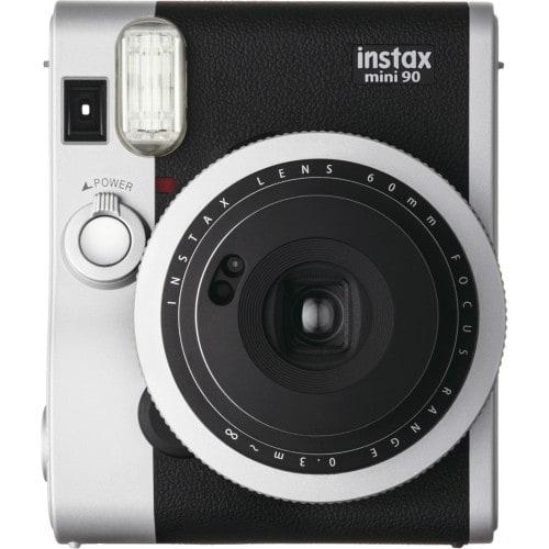 FUJI - Appareil photo instantané Instax Mini 90 Neo Classic Noir - Format photo 62 x 46mm - Livré avec batterie, chargeur et dragonne