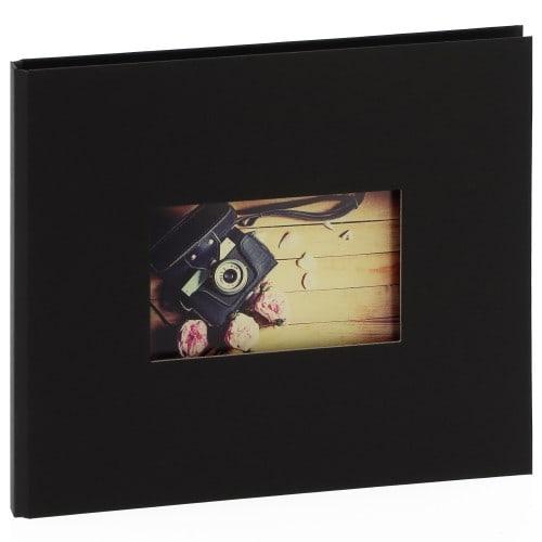"""""""STUDIO"""" 25x21cm - à spirales cachées - 120 photos 10x15cm - 60 pages traditionnelles noires (Noir + fenêtre)"""