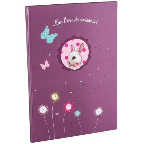 PANODIA - Livre de Naissance FOXY - 40 pages illustrées - Couverture Violette 21x29,7cm (A4)