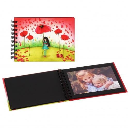 Mini album photo PANODIA série ARTISTES - Illustration MILA - 16x12,5cm - Spirales 30 photos 10x15 - Traditionnel 30 pages noire