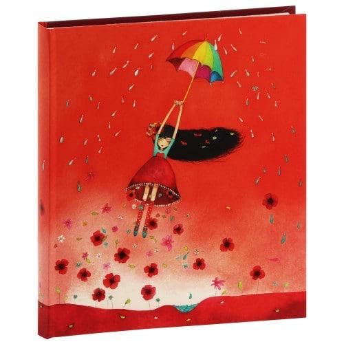 """PANODIA - Album photo pochettes avec mémo ARTISTES """"Illustration MILA"""" - 50 pages ivoires - 100 photos - Couverture """"Envol"""" 22x25cm"""
