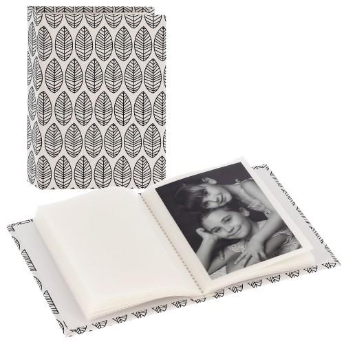 pochettes sans mémo La Fleur - 40 pages blanches - 40 photos - Couverture Blanche 13x16,5cm