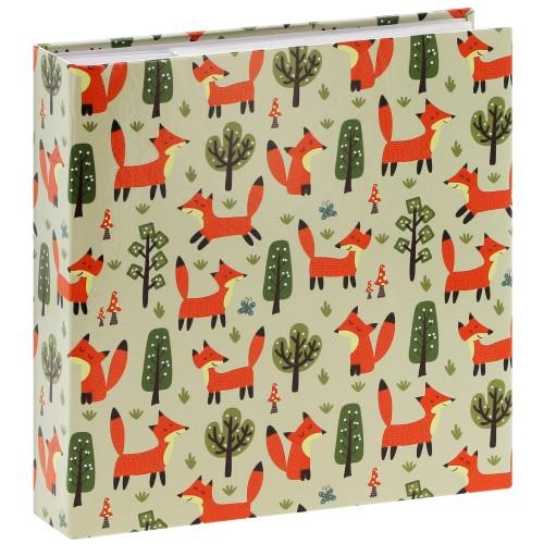 pochettes avec mémo Forest Fox - 100 pages blanches - 200 photos - Couverture Multicolore 22,5x22cm
