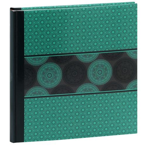 PANODIA - Album photo traditionnel MANDALA - 60 pages blanches + feuillets cristal - 240 photos - Couverture Verte 30x30cm