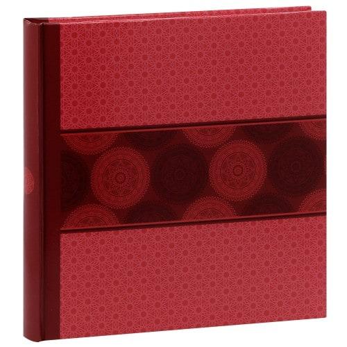 PANODIA - Album photo traditionnel MANDALA - 60 pages blanches + feuillets cristal - 240 photos - Couverture Rose 30x30cm