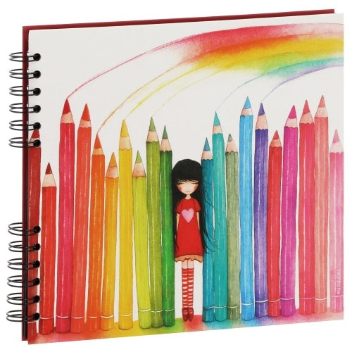 """PANODIA - Album photo traditionnel ARTISTES """"Illustration MILA"""" - 40 pages noires - 80 photos - Couverture """"Crayons"""" 25x23cm"""