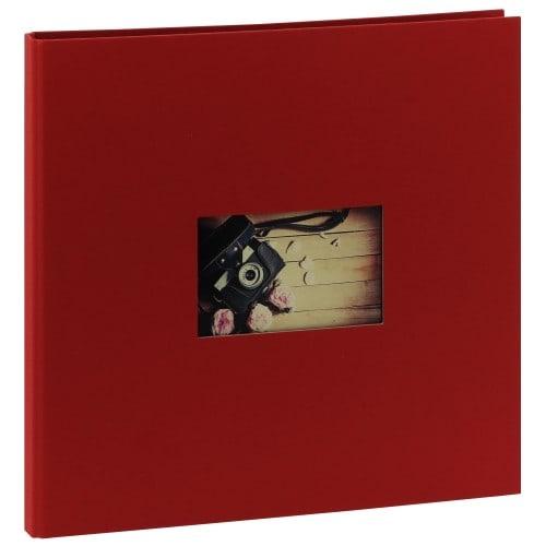 PANODIA - Album photo traditionnel STUDIO - 60 pages noires - 300 photos - Couverture Rouge 34,7x32,5cm + fenêtre