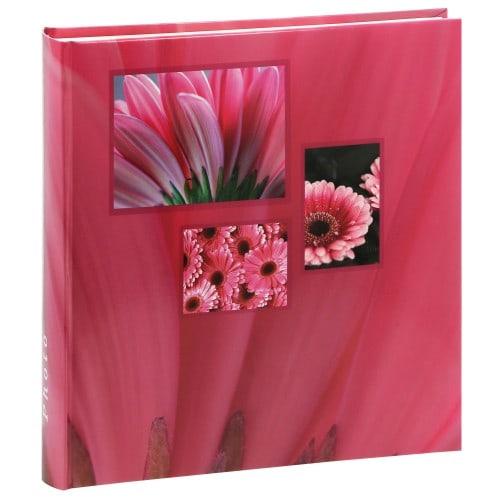 HAMA - Album photo traditionnel JUMBO Singo - 100 pages blanches + feuillets cristal - 400 photos - Couverture Rose 30x30cm
