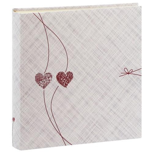 PANODIA - Album photo traditionnel DOLCE - 126 pages ivoires + feuillets cristal - 500 photos - Couverture blanche 30x30cm