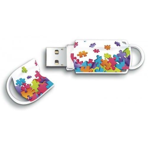 """Clé USB 2.0 INTEGRAL Xpression """"Puzzle"""" - 8 GB"""