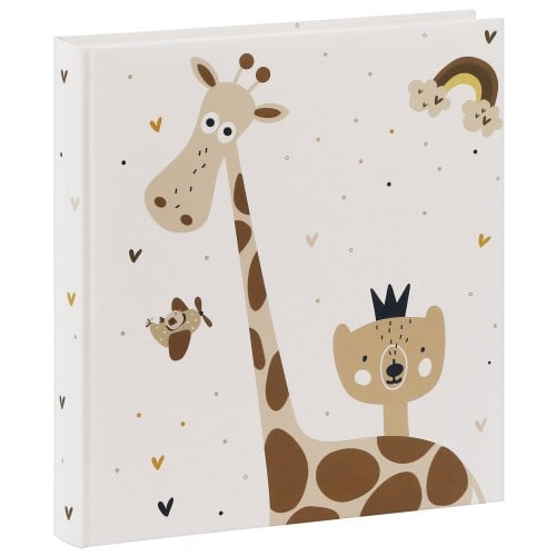"GOLDBUCH - Album photo traditionnel LITTLE DREAM - 60 pages blanches + feuillets cristal + 4 pages illustrées - 240 photos - Couverture ""Girafe"" 30x31cm"