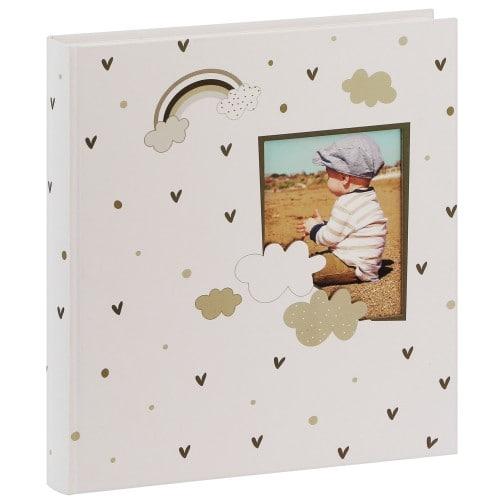 GOLDBUCH - Album photo traditionnel LITTLE DREAM - 60 pages blanches + feuillets cristal + 4 pages illustrées - 240 photos - Couverture Nuages 30x31cm + fenêtre