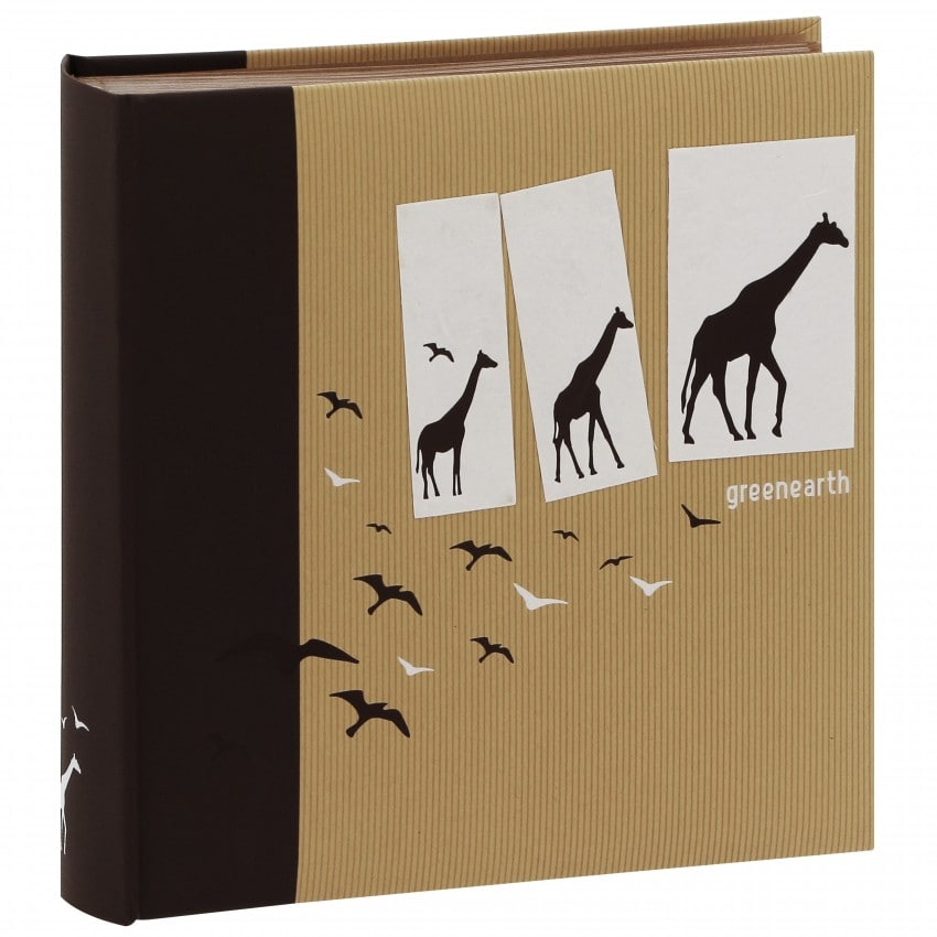 Traditionnel Greenearth4 - 100 pages kraft + feuillets cristal - 400 photos - Couverture Marron 30x30cm