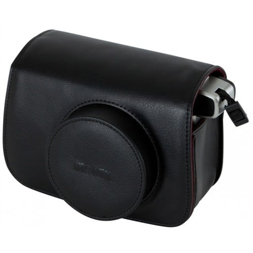 Etui appareil photo FUJI Housse Instax Wide Simili cuir noir Pour Instax Wide 300