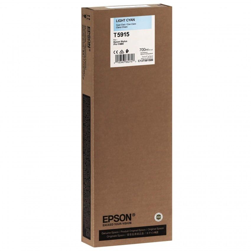 Cartouche d'encre traceur EPSON T5915 Pour imprimante 11880 Cyan clair - 700ml