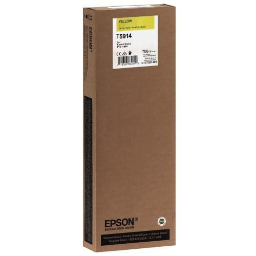 Cartouche d'encre traceur EPSON T5914 Pour imprimante 11880 Jaune - 700ml