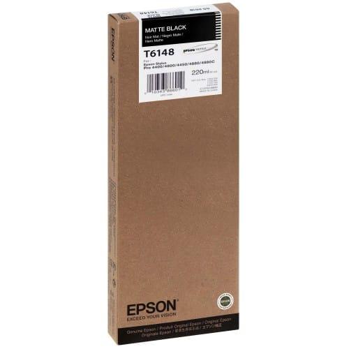 Cartouche d'encre traceur EPSON T6148 Pour imprimante 4400/4450/4800/4880 Noir mat - 220ml