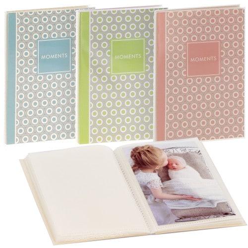 GOLDBUCH - Mini album pochettes sans mémo PURE MOMENTS - 32 pages blanches - 32 photos - Couverture Coloris aléatoire 12x16cm - à l'unité