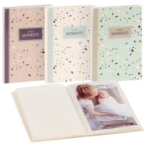GOLDBUCH - Mini album pochettes sans mémo TERRAZO - 16 pages - 32 photos - Couverture Coloris aléatoire 16x12cm - à l'unité