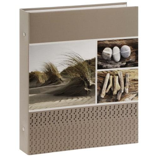 PANODIA - Classeur avec anneaux - pochettes sans mémo EVASION - 80 pages blanches - 400 photos - Couverture 33x37cm