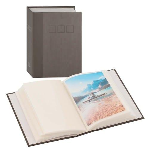 DEKNUDT - Mini album pochettes sans mémo - 50 pages blanches - 100 photos - Couverture Grise 12,5x16,5cm