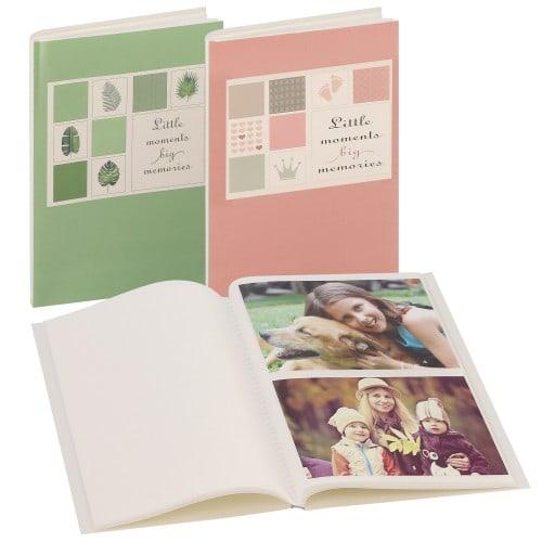 DEKNUDT - Mini album pochettes sans mémo - 32 pages blanches - 64 photos - Couverture Coloris aléatoire 17x22cm - à l'unité