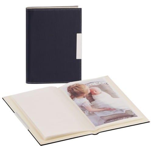 DEKNUDT - Mini album pochettes sans mémo - 24 pages blanches - 24 photos - Couverture Bleue 12,5x17,5cm