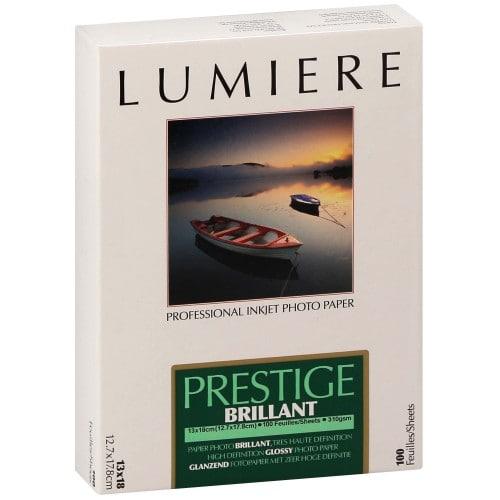 Papier jet d'encre LUMIERE LUMIERE PRESTIGE papier RC brillant 310g - 12,7x17,8cm - 100 feuilles