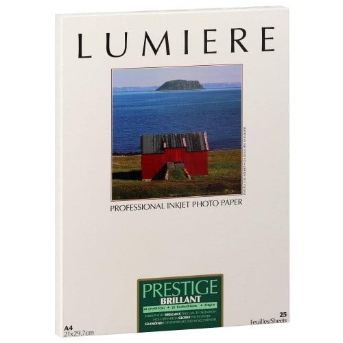 Papier jet d'encre LUMIERE LUMIERE PRESTIGE papier RC brillant 310g - A4 - 25 feuilles