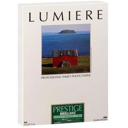 Papier jet d'encre LUMIERE LUMIERE PRESTIGE papier RC brillant 310g - A4 - 100 feuilles