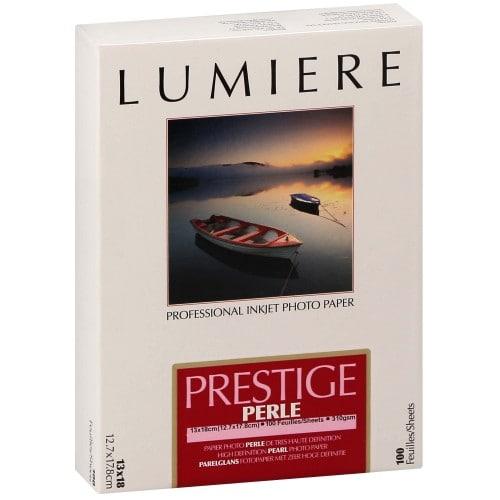 Papier jet d'encre LUMIERE LUMIERE PRESTIGE papier RC perlé 310g - 12,7x17,8cm - 100 feuilles