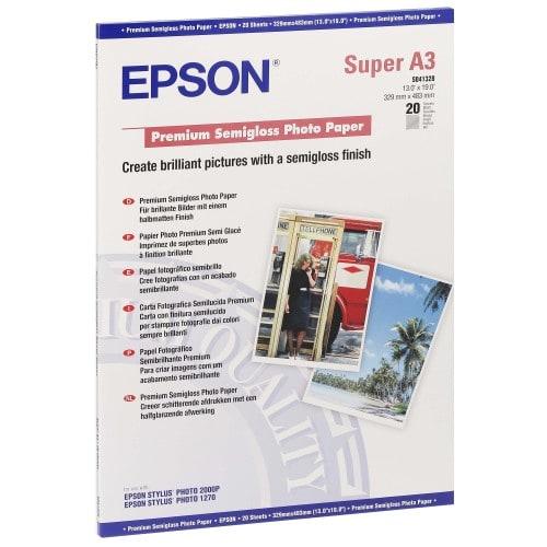 Papier jet d'encre EPSON EPSON PHOTO PREMIUM papier semi-glacé 250g - A3+ - 20 feuilles