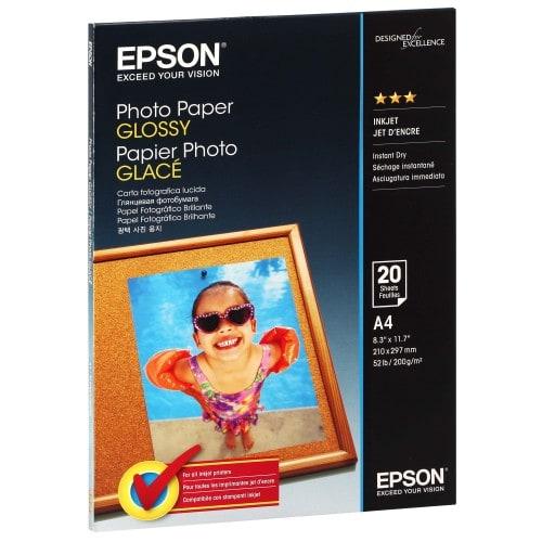 Papier jet d'encre EPSON EPSON PHOTO papier glacé 200g - A4 - 20 feuilles