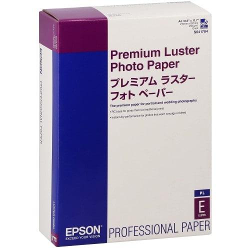 Papier jet d'encre EPSON EPSON PHOTO PREMIUM papier lustré 250g - A4 - 250 feuilles