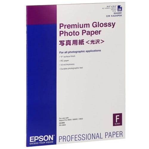 Papier jet d'encre EPSON EPSON PHOTO PREMIUM papier glacé 255g - A2 - 25 feuilles