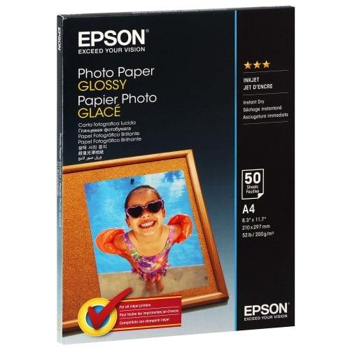 Papier jet d'encre EPSON EPSON PHOTO papier glacé 200g - A4 - 50 feuilles