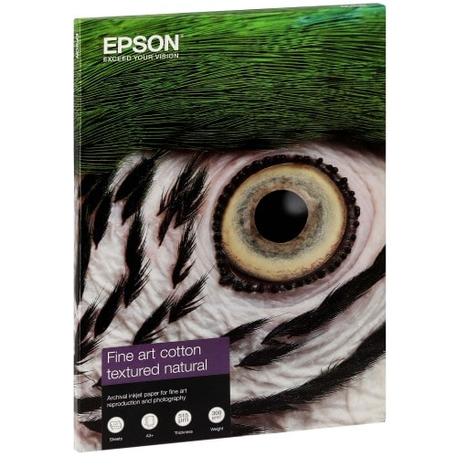 Fine Art Cotton Textured Natural mat 300g - A3+ (32,9x48,3cm) - 25 feuilles