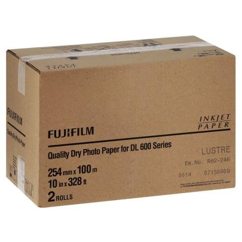 Papier jet d'encre FUJI Papier lustré DL220 pour DL600 / DL650 - 254mm x 100m - 2 rouleaux