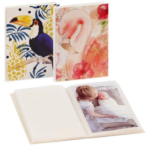 GOLDBUCH - Mini album pochettes sans mémo SUMMER BREEZE - 32 pages blanches - 32 photos - Couverture Coloris aléatoire 12x16cm - à l'unité