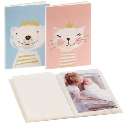 GOLDBUCH - Mini album pochettes sans mémo FORTUNA - 32 pages blanches - 32 photos - Couverture Coloris aléatoire 12x16cm - à l'unité