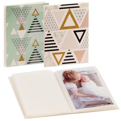 GOLDBUCH - Mini album pochettes sans mémo TRIGONIUM - 32 pages blanches - 32 photos - Couverture Coloris aléatoire 12x16cm - à l'unité
