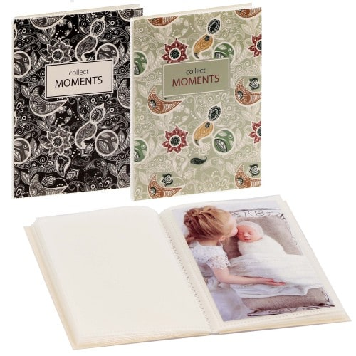 GOLDBUCH - Mini album pochettes sans mémo NEW PAISLEY - 32 pages blanches - 32 photos - Couverture Coloris aléatoire 12x16cm - à l'unité
