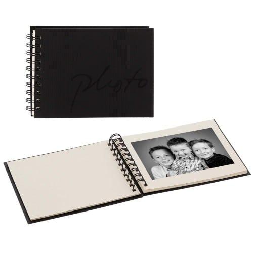 PANODIA - Mini album traditionnel MALO - 50 pages ivoires - 50 photos - Couverture Noire 19.5x14.5cm